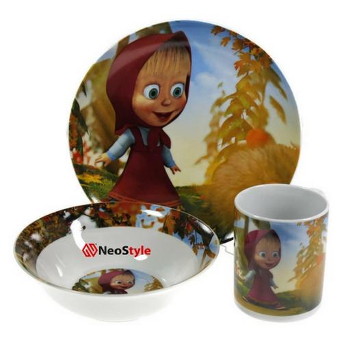 Детски сервиз за хранене Маша и мечока на ниска цена от MaxShop