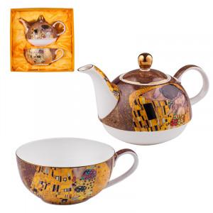 Комплект чаша с чайник Целувката