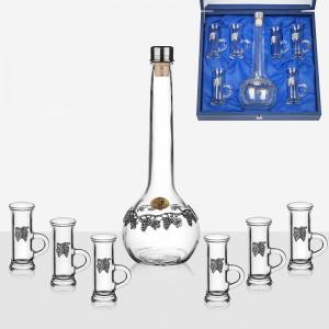 Сервиз бутилка + 6 чаши за ракия Freitas & Dores