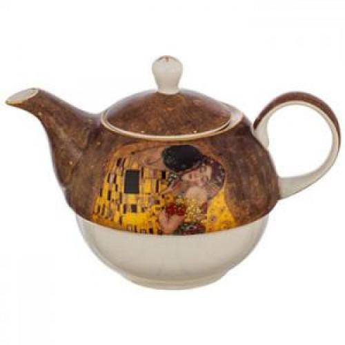 Комплект чаша с чайник Целувката на ниска цена от MaxShop