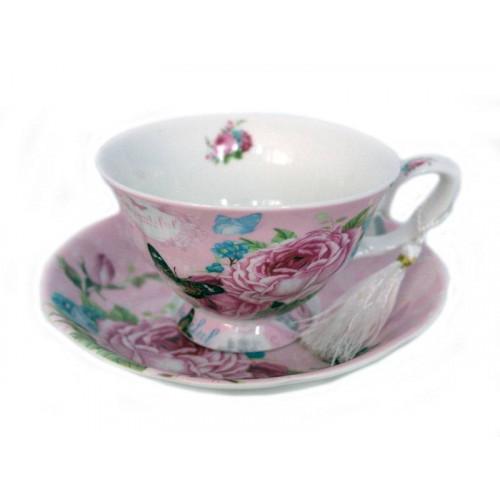 Порцеланов сервиз за чай/кафе от две чаши с чинийки на ниска цена от MaxShop