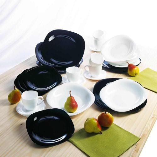 Сервиз за хранене Carine Black & White Luminarc 19 ч. на ниска цена от MaxShop