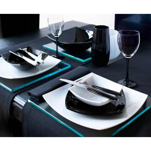 Сервиз за хранене Quadrato Luminarc 19 ч. черно-бял на ниска цена от MaxShop