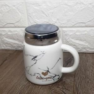 Чаша мрамор с капаче