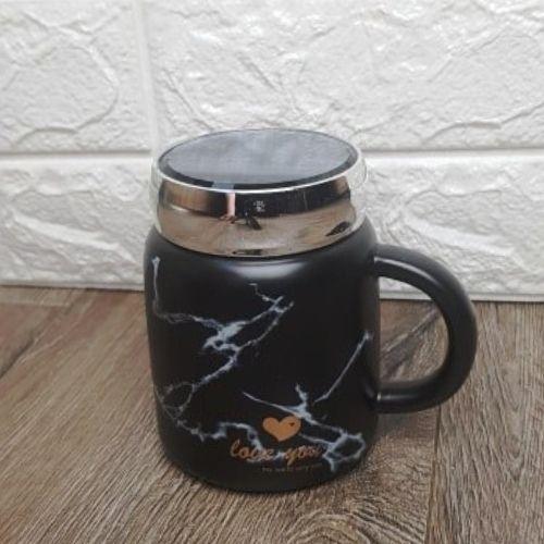 Чаша за чай мрамор с капаче на ниска цена от MaxShop