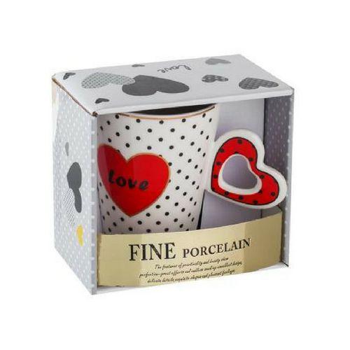 Чаша с червено сърце Lancaster на ниска цена от MaxShop