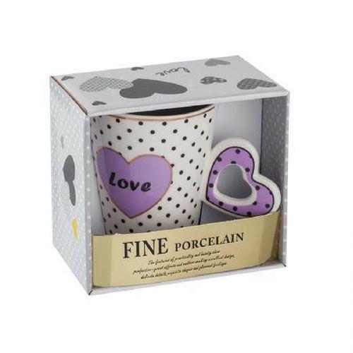 Чаша с лилаво сърце Lancaster на ниска цена от MaxShop