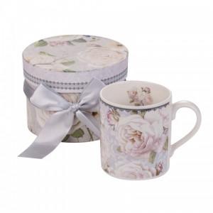 Чаша за кафе бяла роза New Wish Studio