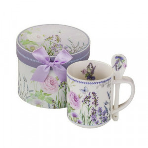 Чаша за кафе Лавандула New Wish Studio Porcelain