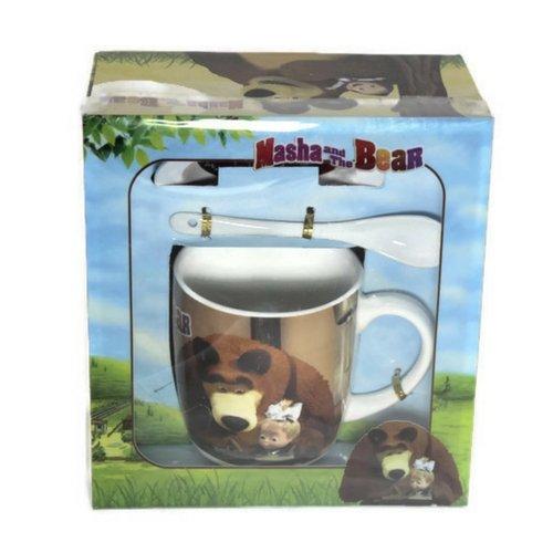 Чаша за мляко Маша и мечока на ниска цена от MaxShop