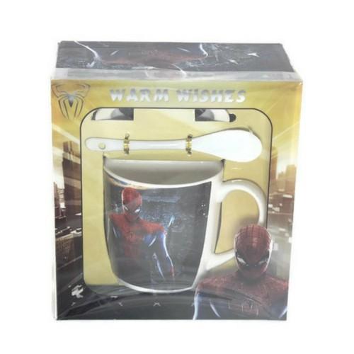 Чаша за мляко Спайдърмен на ниска цена от MaxShop