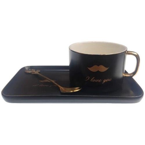 Комплект чаша+чинийка Кiss на ниска цена от MaxShop