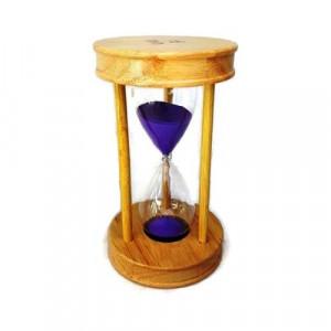 Пясъчен часовник от дърво и стъкло-15 мин
