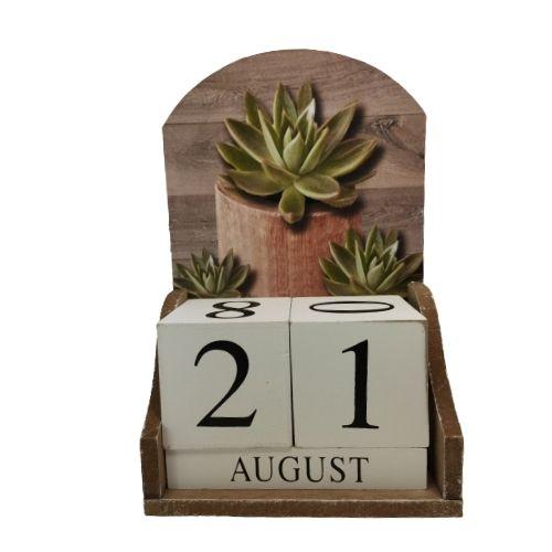 Дървен вечен календар на ниска цена от MaxShop