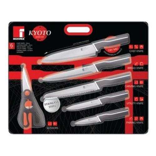 Комплект от 5 ножа с ножица KYOTO на ниска цена от MaxShop