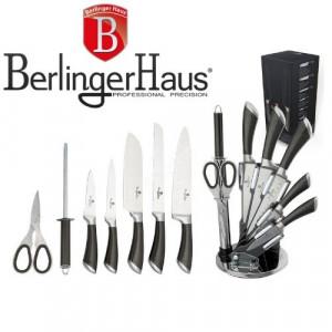Кухненски ножове на поставка Carbon Metallic Line