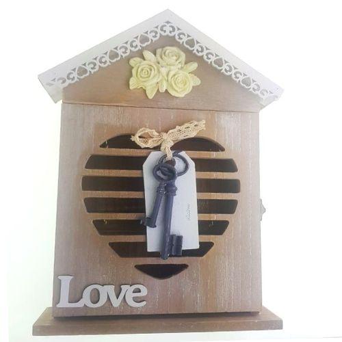 Дървена кутия за ключове Home на ниска цена от MaxShop