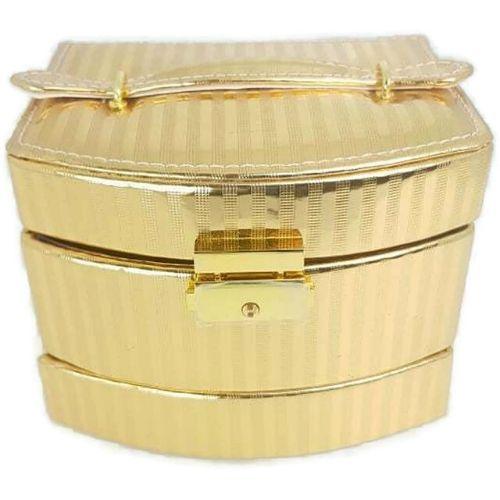 Кутия за бижута - златна на ниска цена от MaxShop