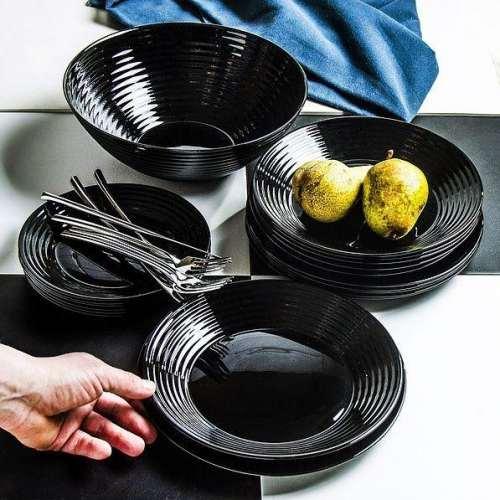 Сервиз за хранене Luminarc Harena Black на ниска цена от MaxShop