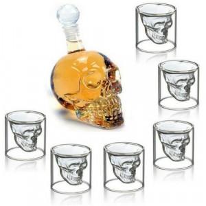 Комплект за уиски Череп