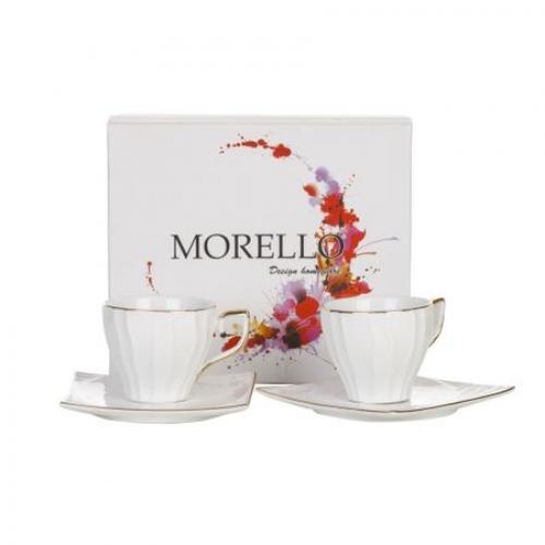Чаши за кафе и чай 4 части Gold handle Morellо на ниска цена от MaxShop