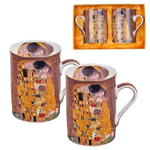 Комплект за чай от 2 чаши Целувката на ниска цена от MaxShop