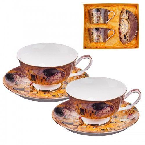 Комплект за чай Целувката на ниска цена от MaxShop