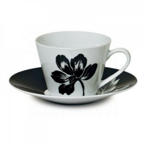Сервиз за чай в черно бял десен на ниска цена от MaxShop