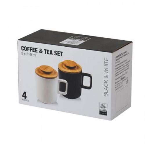 Сервиз за чай/кафе Black & White на ниска цена от MaxShop