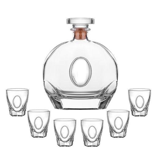 Сет бутилка+6 чаши за ракия на ниска цена от MaxShop