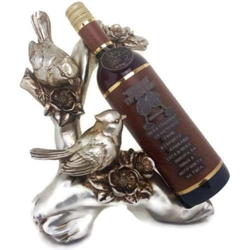 Декоративна фигура врабчета с поставка за вино на ниска цена от MaxShop