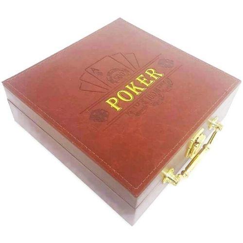 Покер сет в кожена кутия на ниска цена от MaxShop