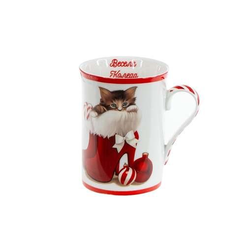 Коледна чаша Коте Mug на ниска цена от MaxShop