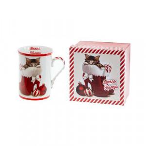 Коледна чаша Коте Mug