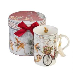 Коледна чаша Велосипед MUG Класик