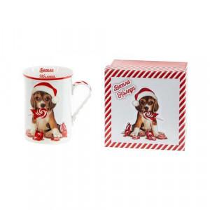 Коледна чаша Кученце MUG класик