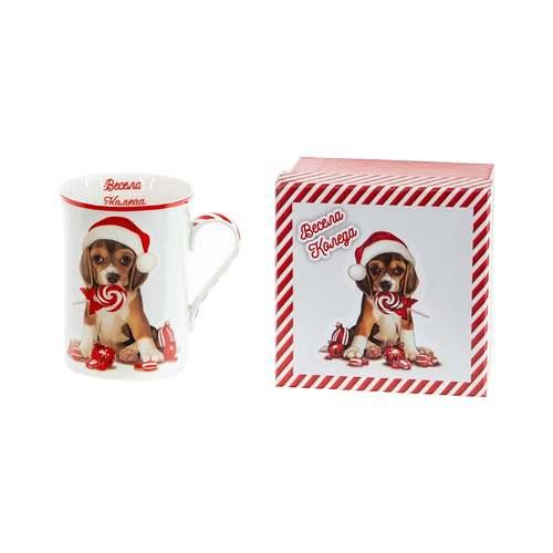 Коледна чаша Кученце MUG класик на ниска цена от MaxShop