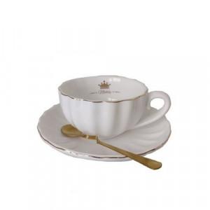 Чаша, чинийка, лъжичка White Crown 200 мл