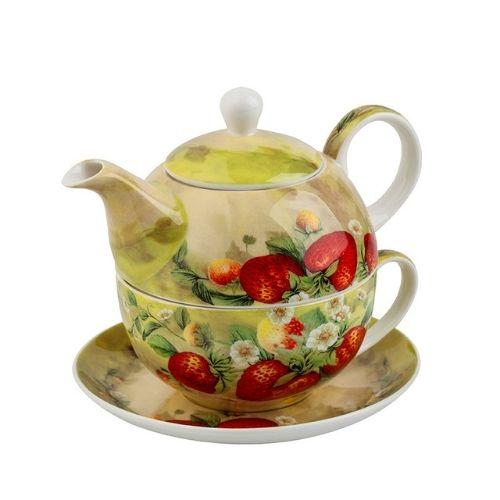 Чаша с чайник Ягоди на ниска цена от MaxShop