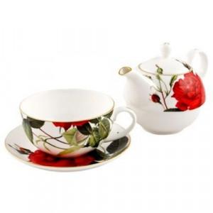 Комплект от чаша и чайник Рози