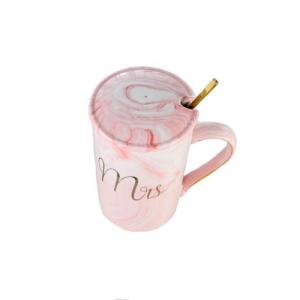 Чаша с капак и лъжичка Mrs 400 мл