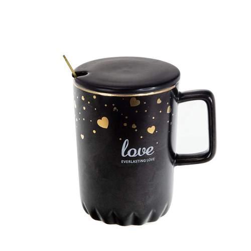 Порцеланова Чаша Love в черно и бяло на ниска цена от MaxShop