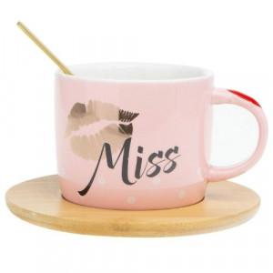 Комплект чаша+чинийка Miss