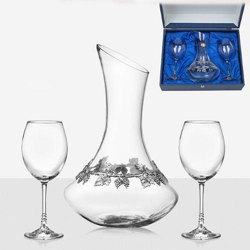 Чаши червено вино 2 бр. с Декантер на ниска цена от MaxShop