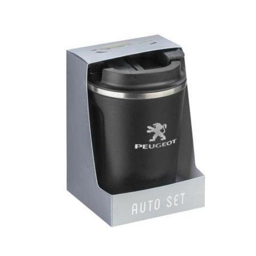 Термо чаша Silver Flame с лого на Peugeot на ниска цена от MaxShop
