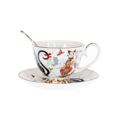 Комплект за чай Котки на ниска цена от MaxShop