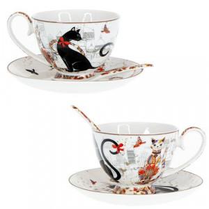 Комплект за чай Котки