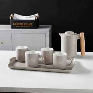 Комплект  за чай с поднос и кана