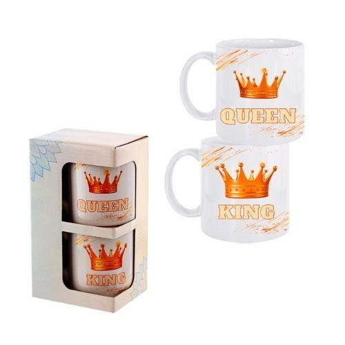 """Комплект 2 броя чаши """"King and Queen"""" на ниска цена от MaxShop"""