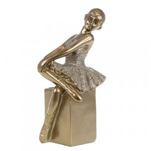 Декоративна статуетка Балерина - седяща